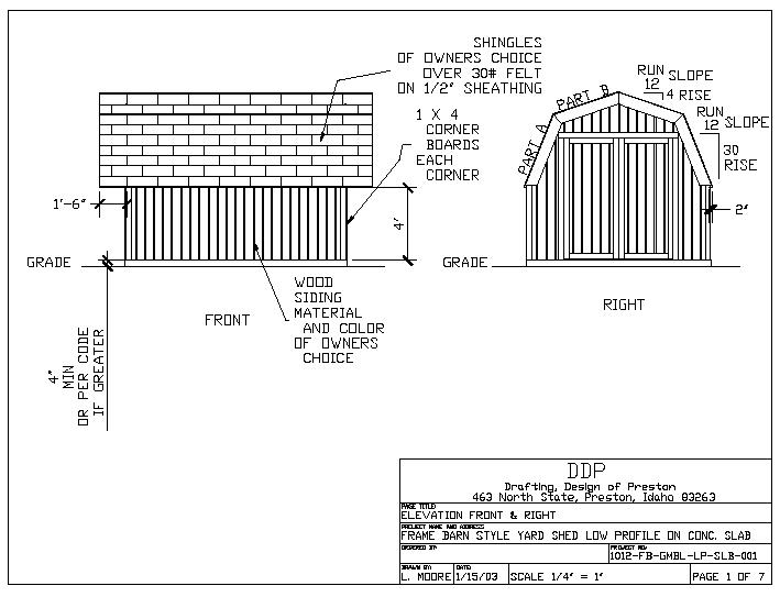 How To Build A 10 10 Gambrel Storage Shed Internet