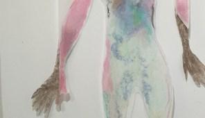 Pastel op karton en transparant tekenpapier, 2016