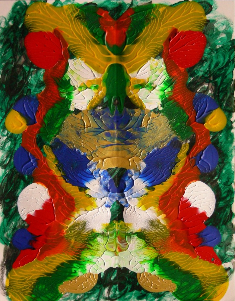 Painting: Rorschach 7, Chaotic (5/6)