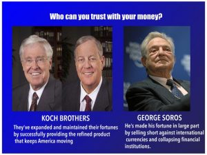 Image result for koch brothers george soros photo