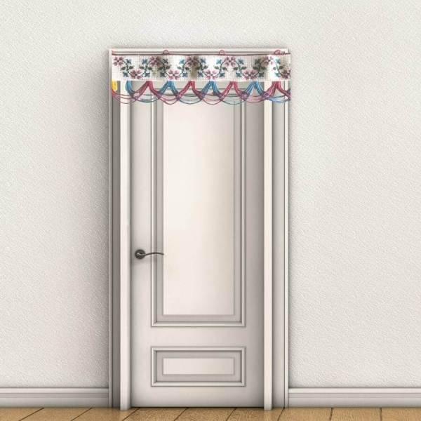 Floral Toran Design on Door Frame
