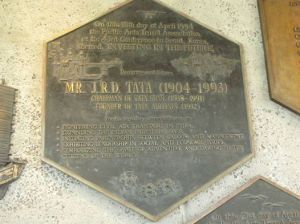 JRD Tata Plaque_Honolulu Airport