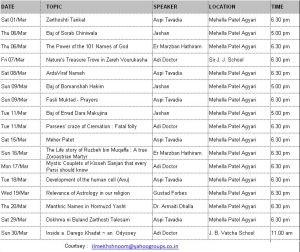 Religious Programme - March 2014