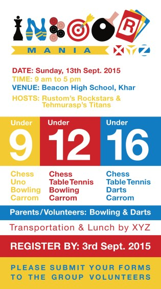 xyz indoor mania email - 13th September 2015