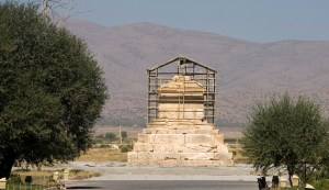 The tomb of Cyrus the Great, a revered King of the Persian Empire, is seen at Pasargadae outside Shiraz, south of Tehran, September 24, 2007. REUTERS/Caren Firouz/File Photo - RTX2R70A