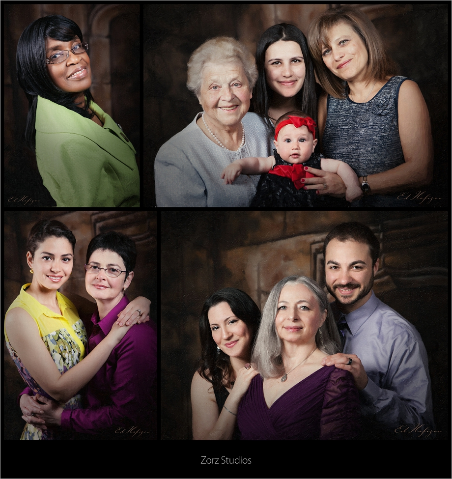 Mother's Day: Free Portraits for Zorz Studios' Clients' Mothers