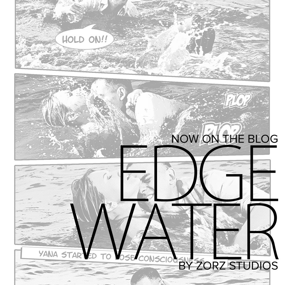 Edge Water: Yana + Alex = Comic Engagement Session by Zorz Studios (1)
