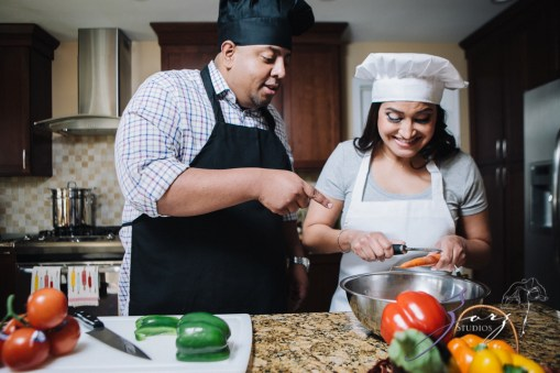 Who's The Chef? Rupal + Krishna = Food Fight Engagement Session by Zorz Studios (32)