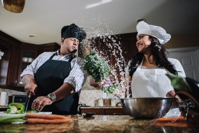 Who's The Chef? Rupal + Krishna = Food Fight Engagement Session by Zorz Studios (26)