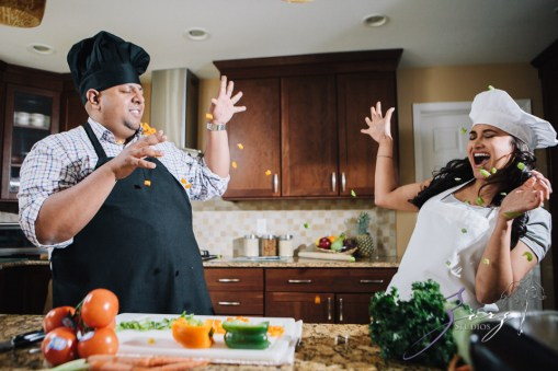 Who's The Chef? Rupal + Krishna = Food Fight Engagement Session by Zorz Studios (20)