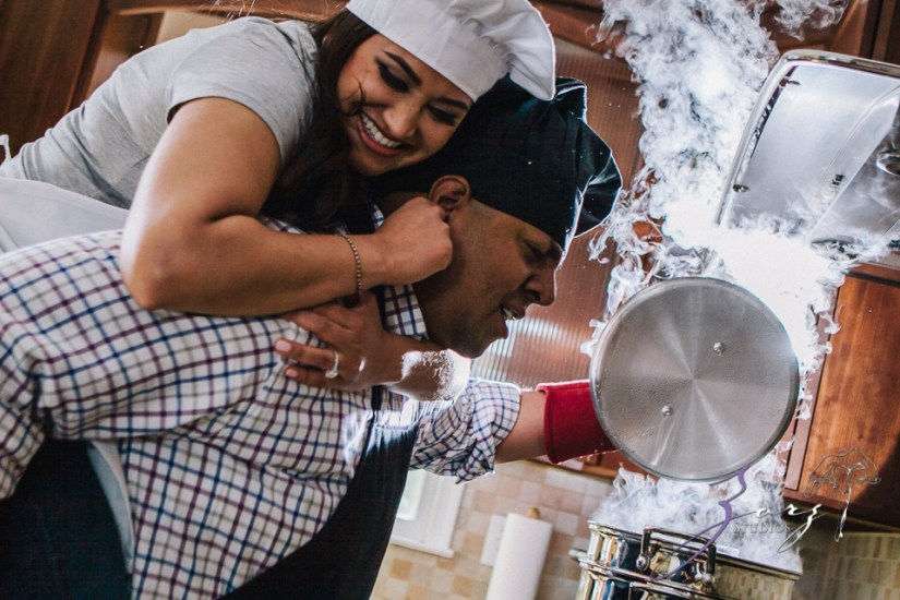 Who's The Chef? Rupal + Krishna = Food Fight Engagement Session by Zorz Studios (18)
