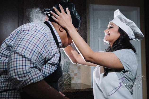 Who's The Chef? Rupal + Krishna = Food Fight Engagement Session by Zorz Studios (10)