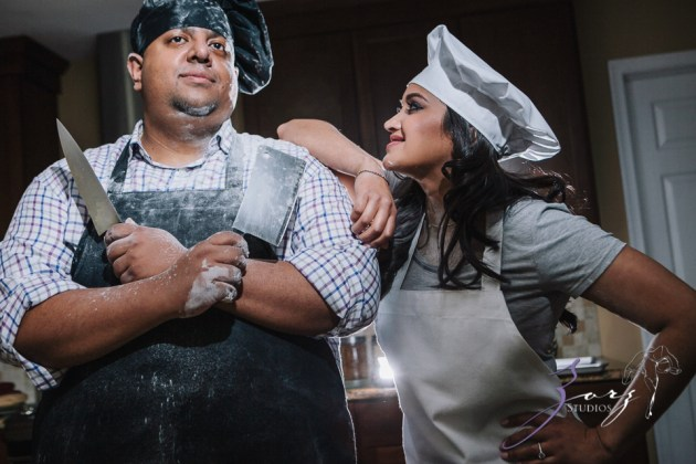Who's The Chef? Rupal + Krishna = Food Fight Engagement Session by Zorz Studios (9)