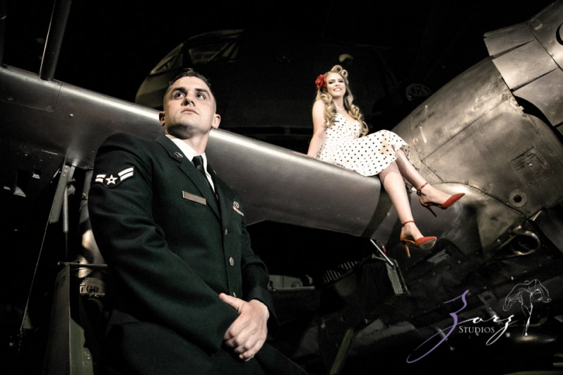 Pin-up Wings: Sam + Connor = Vintage Military Engagement Shoot by Zorz Studios (24)