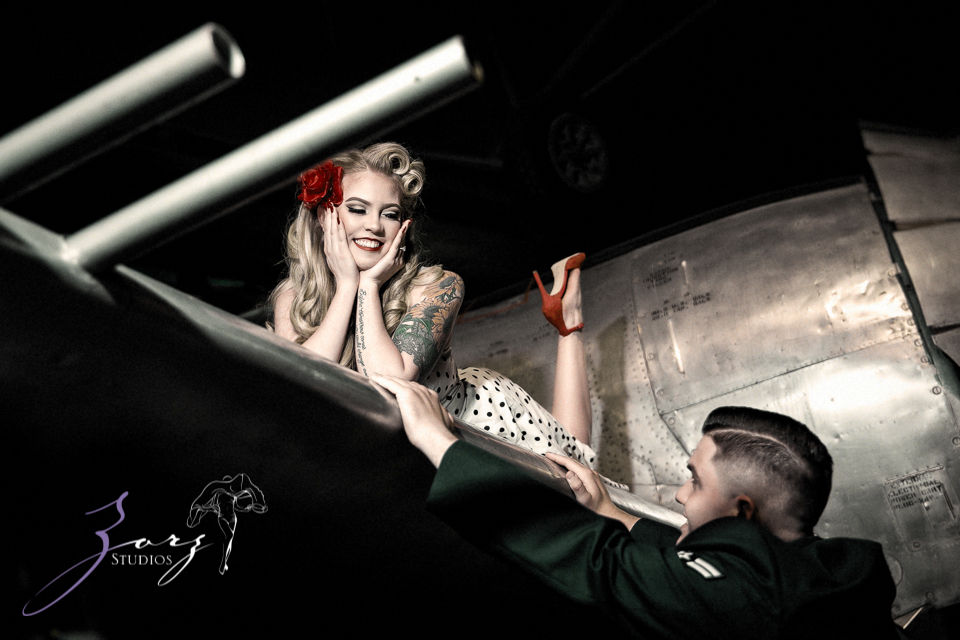 Pin-up Wings: Sam + Connor = Vintage Military Engagement Shoot by Zorz Studios (21)