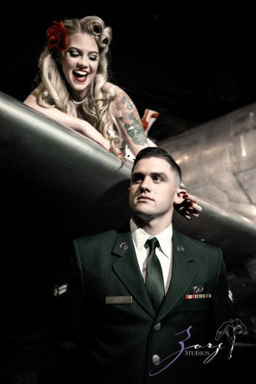 Pin-up Wings: Sam + Connor = Vintage Military Engagement Shoot by Zorz Studios (20)