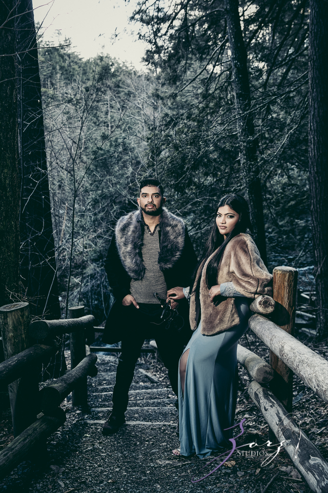 Elysium: Dreamlike Engagement Shoot at Raymondskill Falls by Zorz Studios (9)