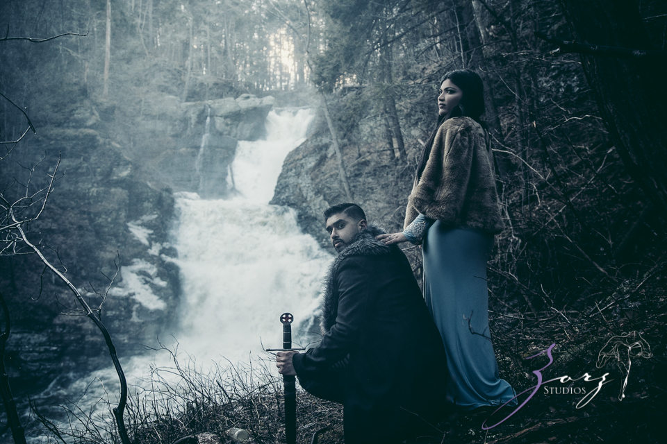 Elysium: Dreamlike Engagement Shoot at Raymondskill Falls by Zorz Studios (3)