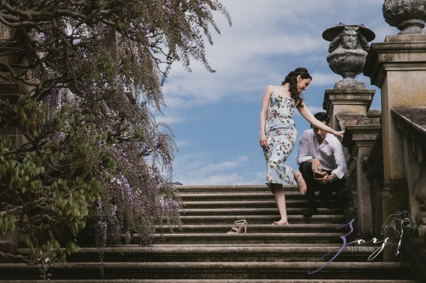 No Bounds: Ilana + Igor = Old Westbury Gardens Engagement Session by Zorz Studios (9)