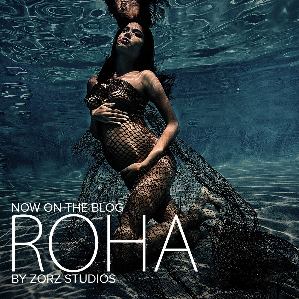 Roha: Model's Underwater Maternity Photoshoot in Connecticut