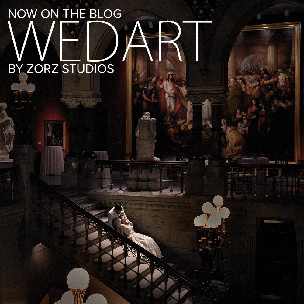 Wedart: PAFA Wedding - Pennsylvania Academy of the Fine Arts by Zorz Studios
