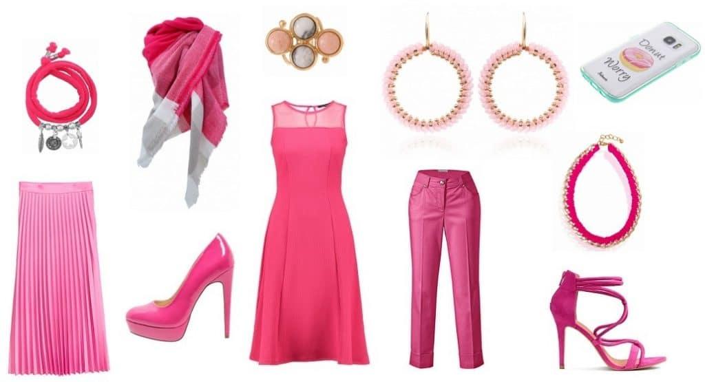 Avondje uit met roze kleding