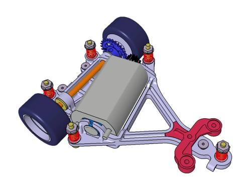 Scaleauto Studia un nuovo supporto motore AW in stampa 3DP-1