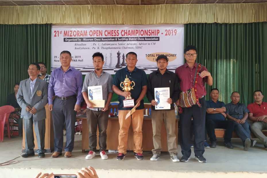 Mizoram Open Chess Championship 2019 at Serchhip