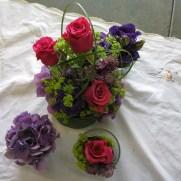 Gestecke pink violett