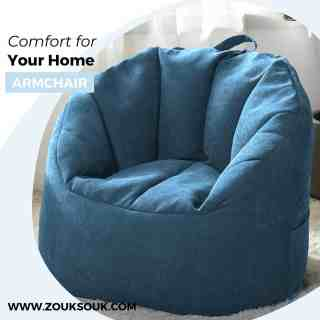 Our armchairs feel like a hug. Get ready to snuggle up and choose from stunning colours . Link in bio.   #zouksouk #homedecor #beanbags #artworks #kuwaitcity #kuwaitinsta #kuwaitinstagram #beanbagchair #sportsfans #basketball #football #custom #floorcushion #furniture #readyshipping #shopnow #bedroomdecor #roominspiration #familychillspot
