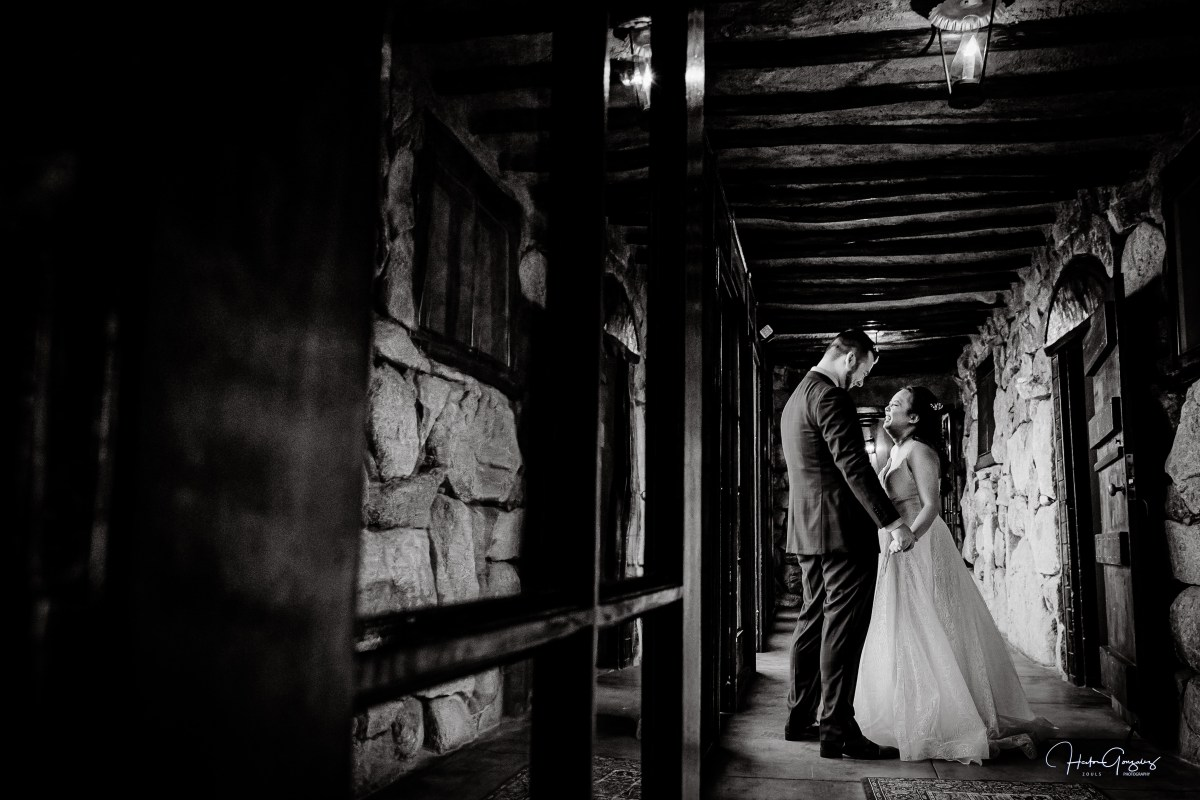 First look at Mt Woodson Castle Wedding