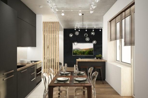 ЖК Парк Легенд кухня_гостиная1