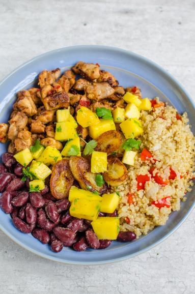 Zdjęcie - Cuban bowl z kurczakiem - Przepisy kulinarne ze zdjęciami