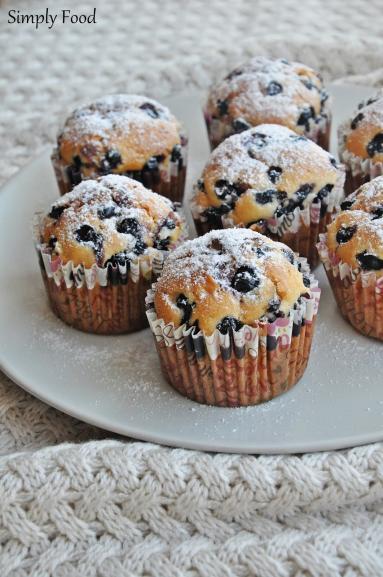 Zdjęcie - Muffinki z jagodami - Przepisy kulinarne ze zdjęciami