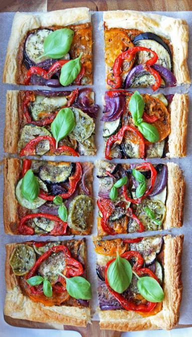 Zdjęcie - Tarta Ratatuj - Przepisy kulinarne ze zdjęciami