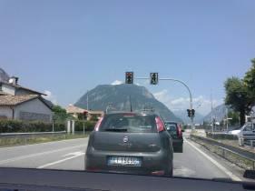 Trasa powrotna z Włoch