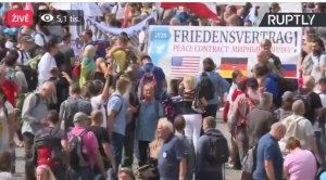 Demonstrace Berlín