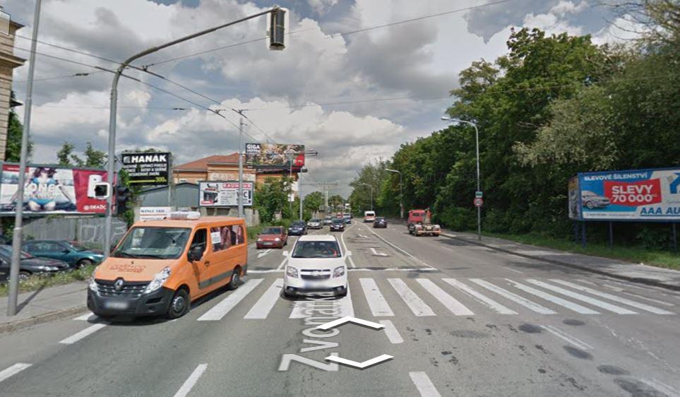Uzavírka ulice v Brně