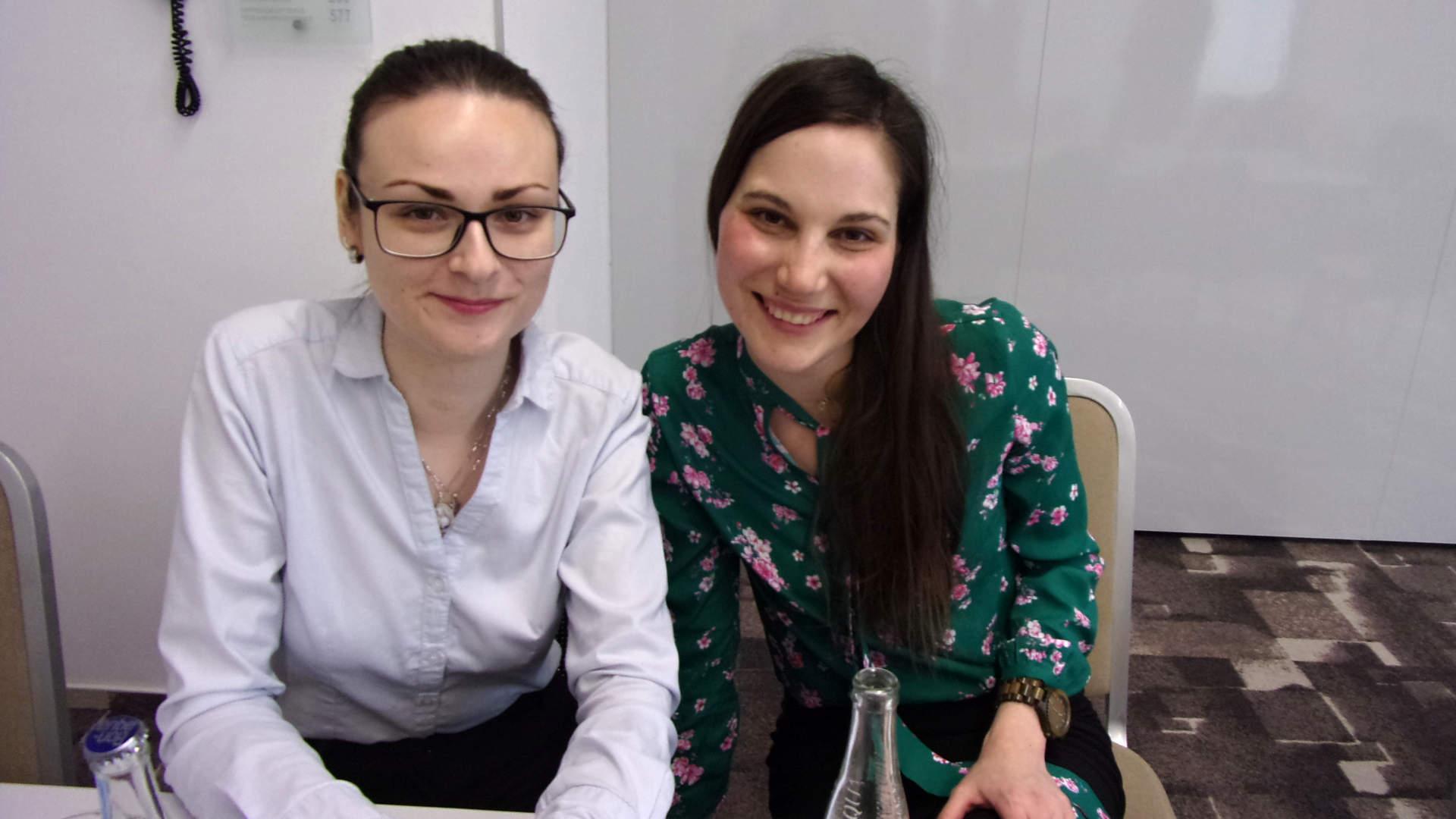 Pacientky s transplatovanými játry Kristýna Bravencová (vlevo) a Lucie Štrublová