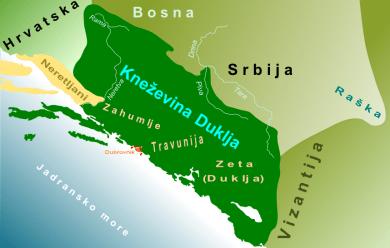 Knezevina Duklja oko 1050 godine