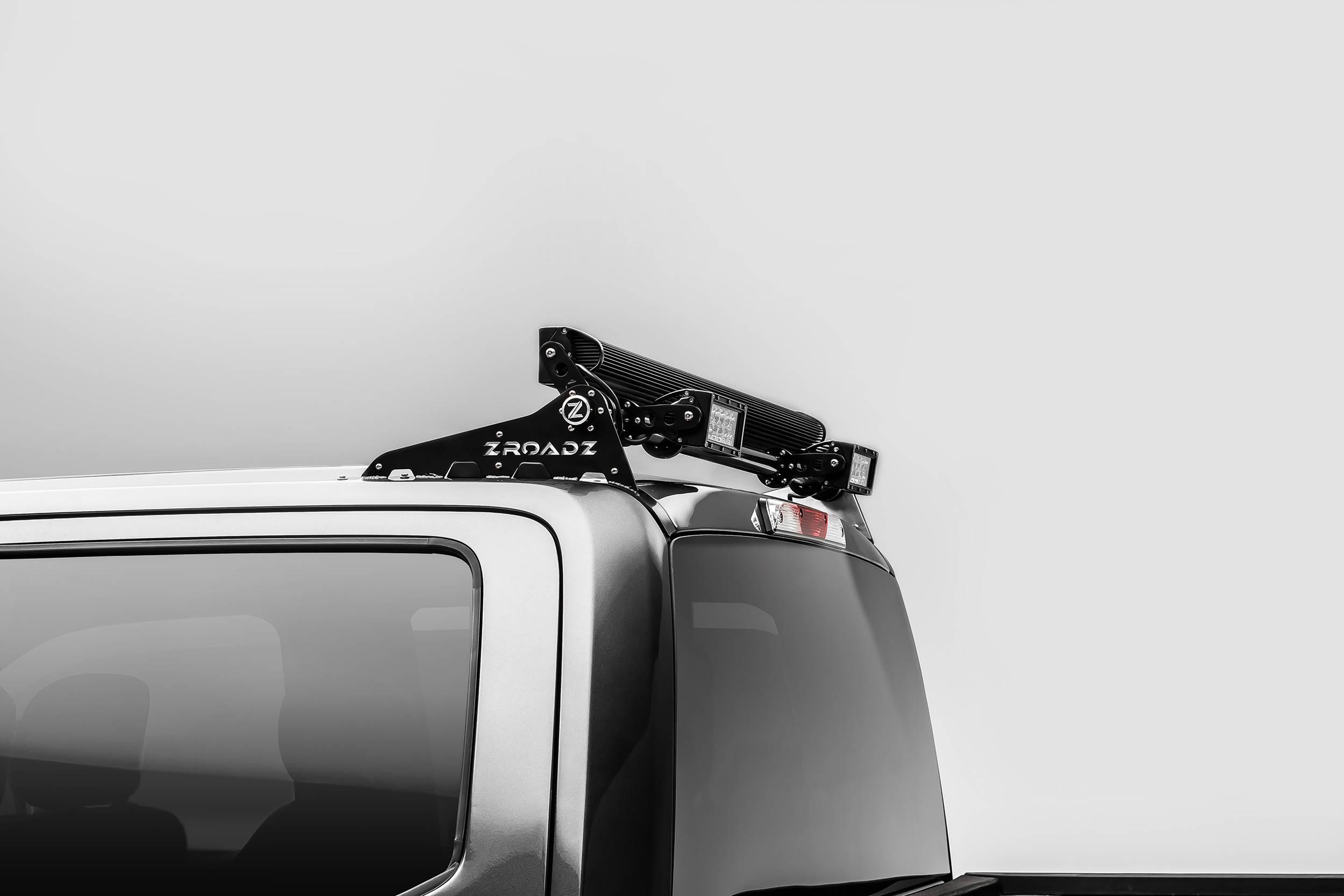 2017 2021 ford super duty modular rack led bracket adjustable to mount up to 4 various size led light bars pn z355471