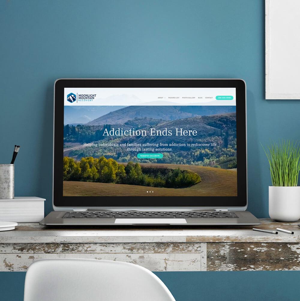 Moonlight Mountain Recovery Website Mockup