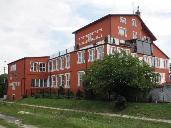 budynek, tył, widok na taras górny