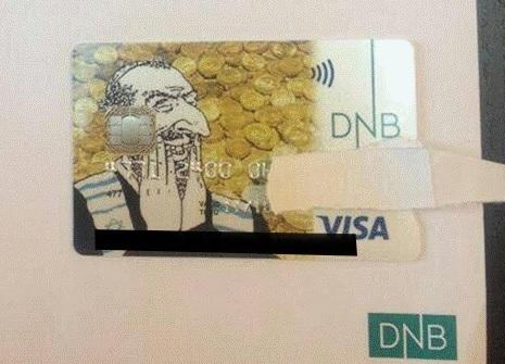 Antiszemita bankkártya miatt kért bocsánatot egy norvég bank