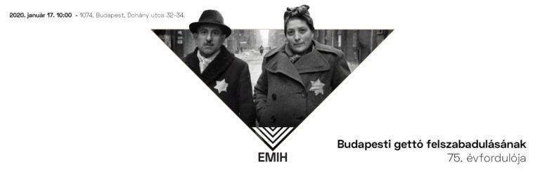 Meghívó: Megemlékezés a budapesti gettó felszabadulásának 75. évfordulóján