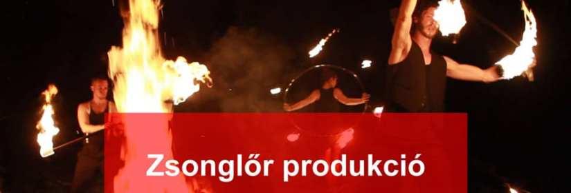 tűzzsonglőr produkció