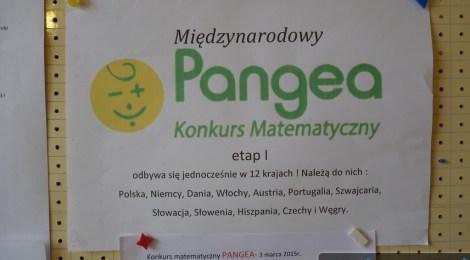 Konkurs matematyczny PANGEA -etap szkolny