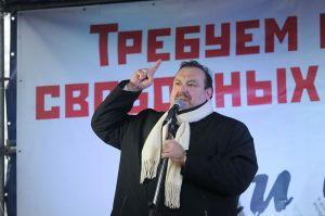 """""""Правдоруб"""" Г.Гудков на Болотной площади в Москве 10 декабря 2011"""