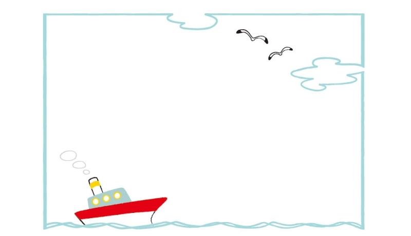 貿易船による輸出の図
