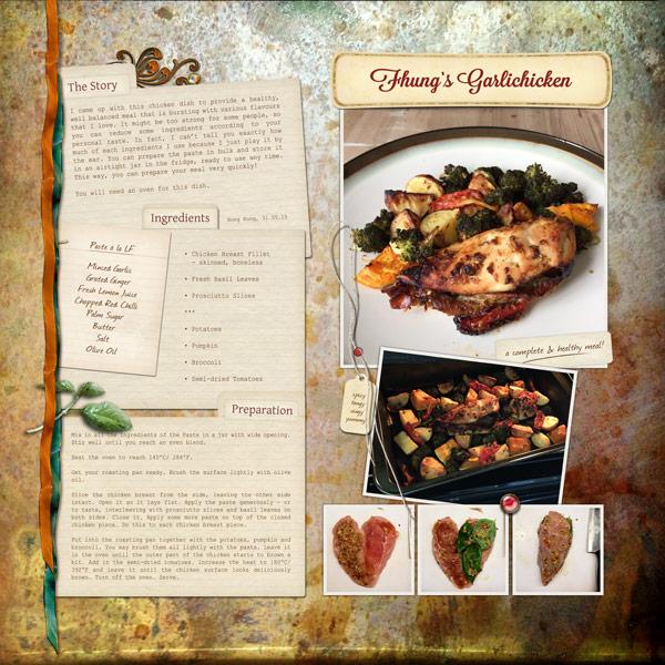 Fhung's Garlic Chicken Recipe Layout